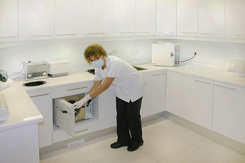 Sala de esterilização na Clínica PRIVÉ